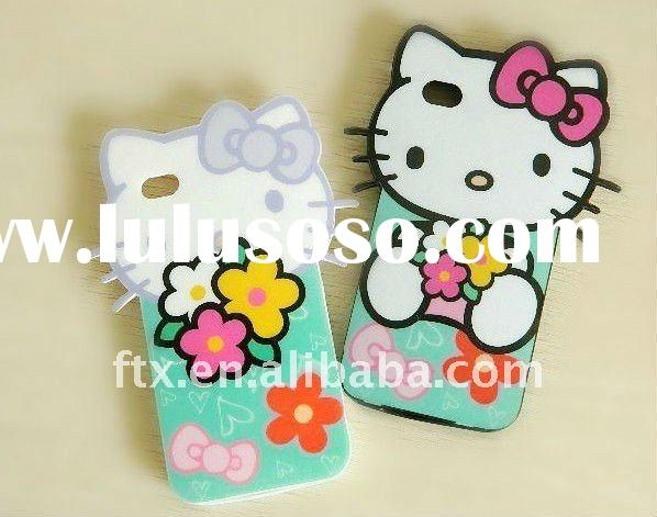 2012 promotion /2011 hot-selling lovely hello kitty style mobile phone case/compatible iphone