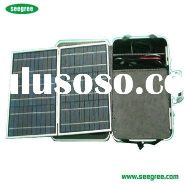 30W Portable Solar Power System Suitcase