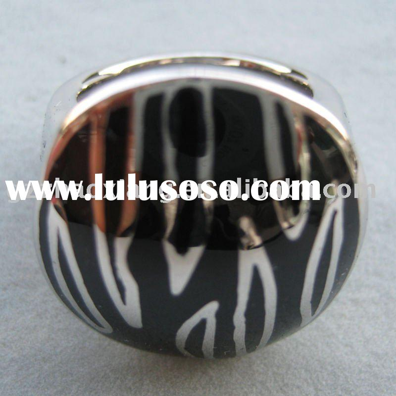316L Stainless steel new fashion enamel crafts anillos para ninos factories