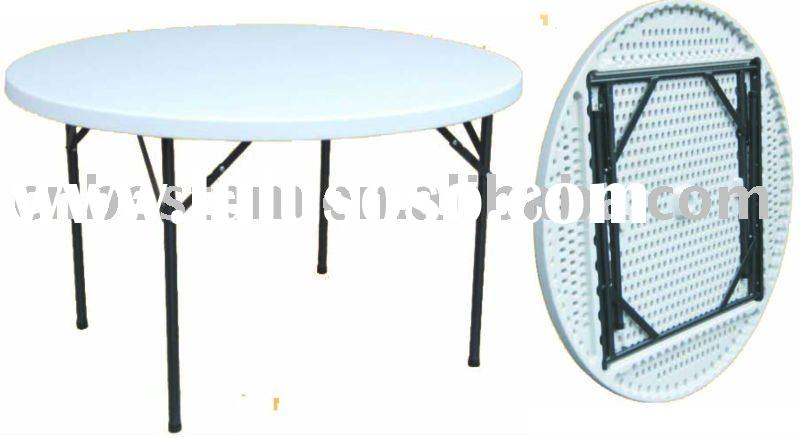 4-foot round banquet folding table