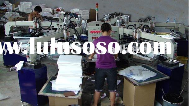 6 color 12 station automatic t shirt printing machine&textile printing machine