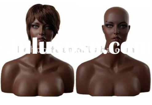 ARICAN FEMALE MANNEQUIN HEAD BT415/DISPLAY MANNEQUIN HEAD, JEWELRY DISPLAY