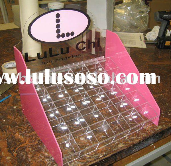 Acrylic Nail Polish Display,Perspex Cosmetic Stand,Lucite Cosmetic Organizer