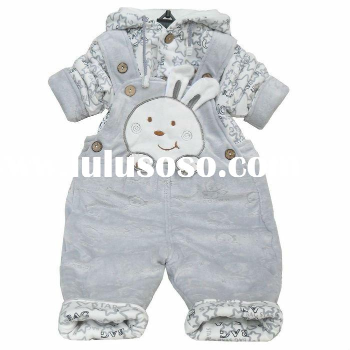 Autumn/Winter Baby Clothes Children Flocking Coral Suit Free Shipping Christmas