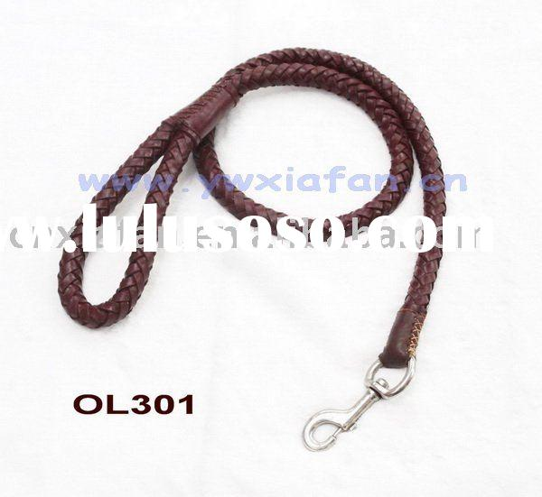 Beautiful & Strong Woven Leather Pet leashes Dog leashes