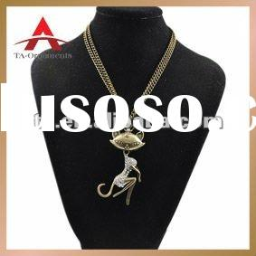 Bronze pendant necklace crystal jewelry for wholesale
