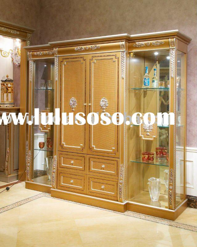 Classical wooden glass showcase,display cabinet,MOQ:1PC(B23597)
