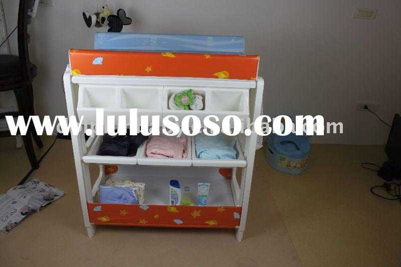 Combination Change and Bath Table with drawer, Baby Bathtub And Changing Table