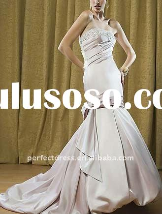 Crystal Mermaid trumpet hot pink wedding dress SC1201