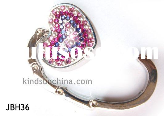 Crystal heart Hook Purse Bag Handbag Hanger
