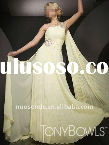 Free Shipping Dresses Luxurious Evenings 2011 Dresses Moss Green One Shoulder Evening Dresses Online