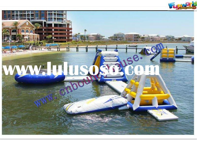 Hight quality Floating water park/water games equipment/water ladder/trampoline and climbing toys(WA