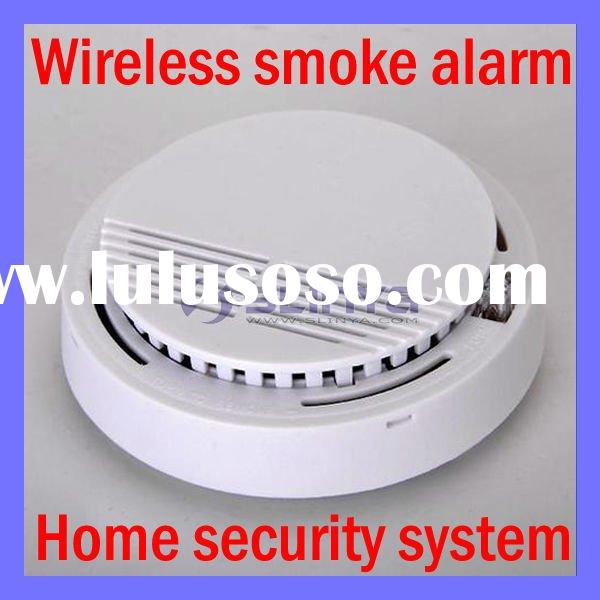 Home security system cordless wireless Red LED Flash Smoke Alarm Fire Detector