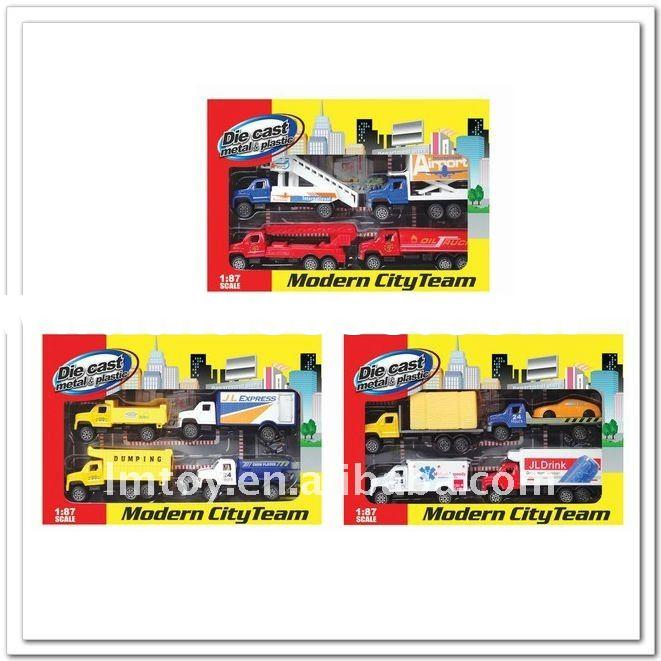 Hot! 1:87 freewheel diecast toy truck set