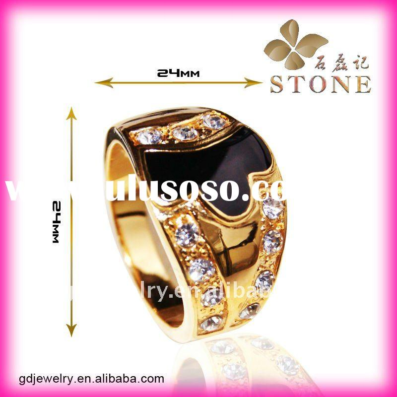 Hotsale charming jewellery 18 karat men's wedding rings