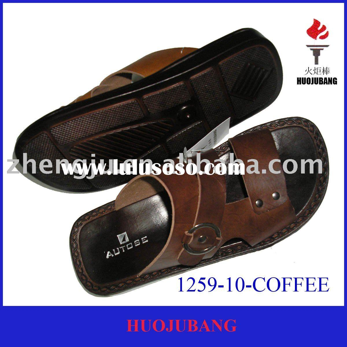 Men's footwear of 2nd leather with pu sole