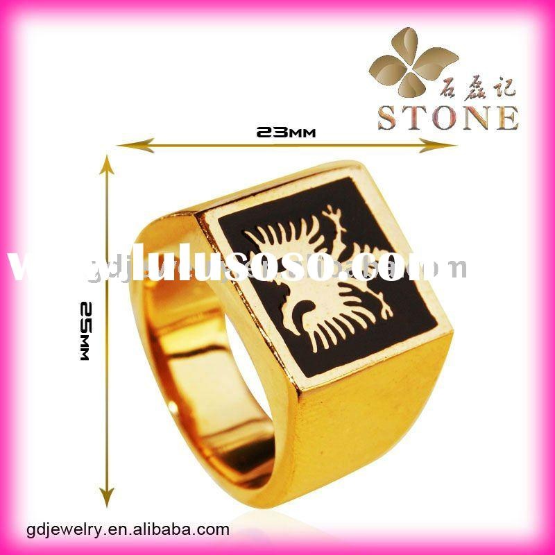 Newest design fashion jewelry gold wedding rings for men