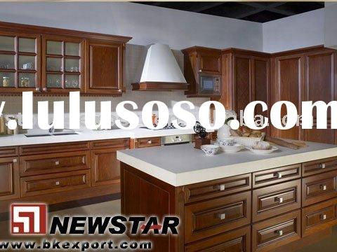 Offer solid wood kitchen cabinetrjies with marble/granite countertop and stainless steel sinks