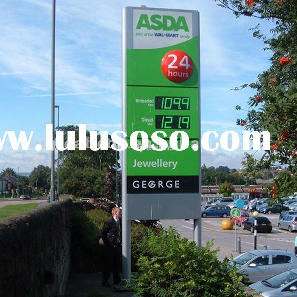 Outdoor 12 inch 8.889 led petrol price sign in green for gas station