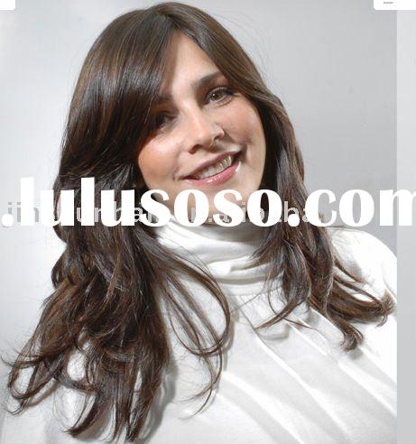 Sleek European Human hair Wigs - Curly Human hair wigs