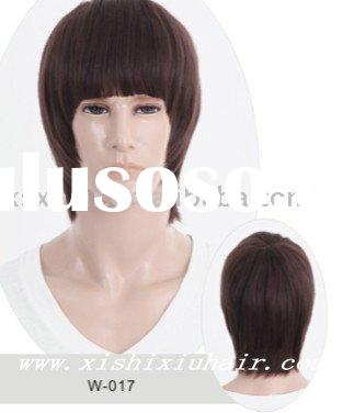 The cool and handsome cheap human hair short male wigs for sale