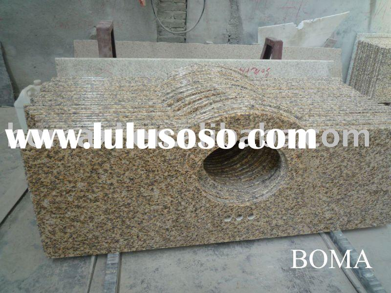 Tiger Skin Yellow Granite Banjo Vanity Top