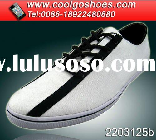 Trendy white canvas slip-on shoes wholesale top quality high demanding in Europe market 2012
