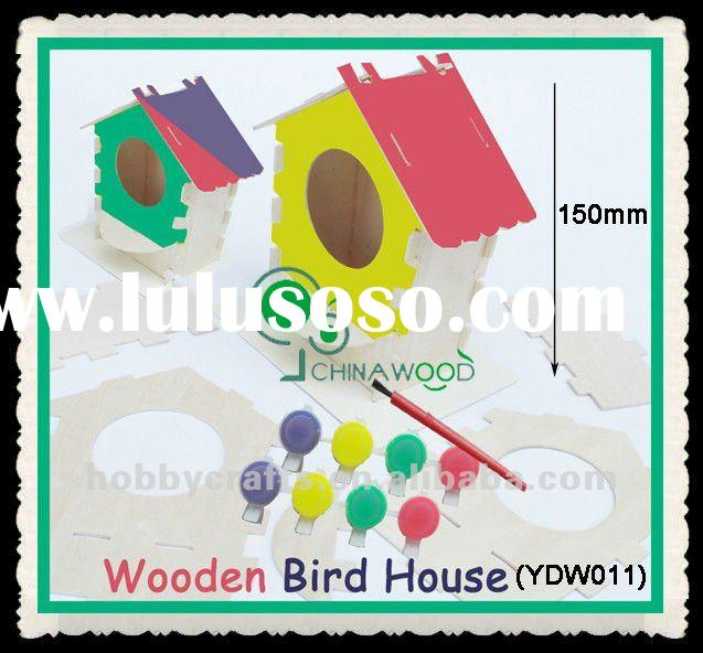 Wood Bird House Craft Kits for Kids DIY craft project