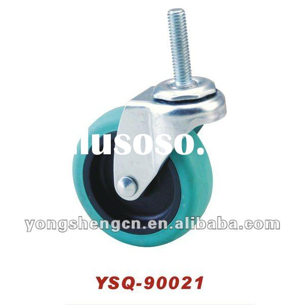 YSQ-90021 Light-duty Caster wheel 3'' TPR- PP Theaded Stem Caster Castor