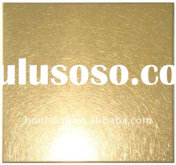 bead blasted finishes PVD coating titanium gold stainless steel sheet