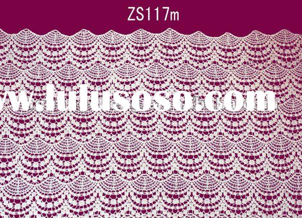 fashion african cotton embroidery organza voile lace fabric material for sale