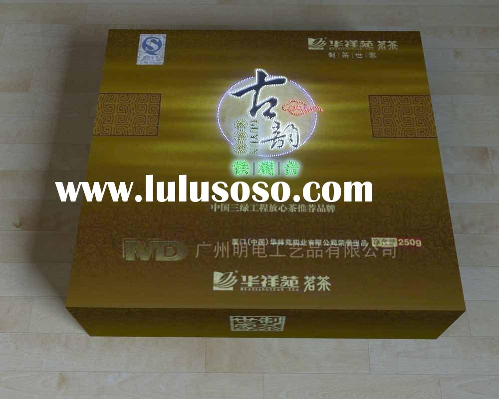 fibre optics LED tea display/acrylic tea display advertising product/led tea/promotion gif