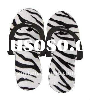foldable hotel guest slippers eva one-off folding pedicure spa flip flop