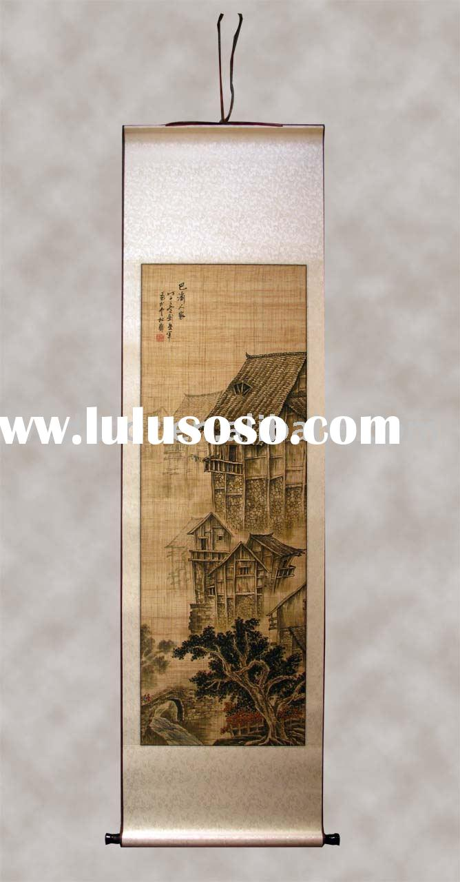 grass cloth paintings,painting, bamboo painting,chinese oil painting, handmade oil paintings