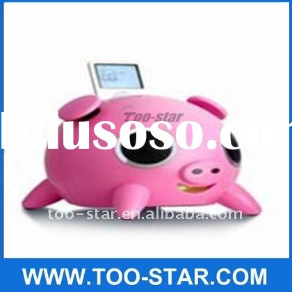 iPig Pink for iPhone 3 3GS 4 4S iPod Docking Dock Station Speaker OPENBOX