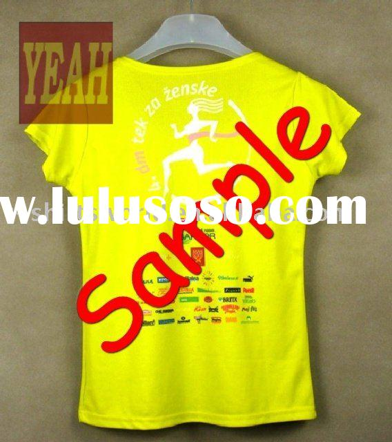 ladies' dry fit running sports t shirts with sublimation printing