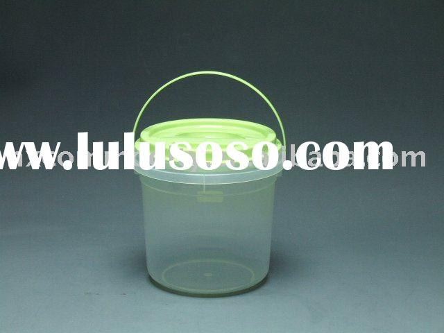plastic storage bucket with lid,plastic bucket with cover