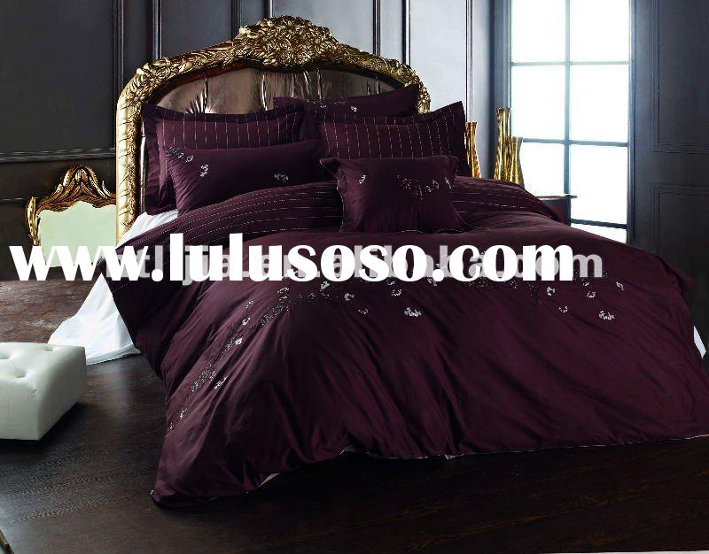 polycotton 8pcs purple comforter