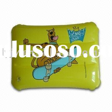 pvc inflatable beach pillow with logo printing