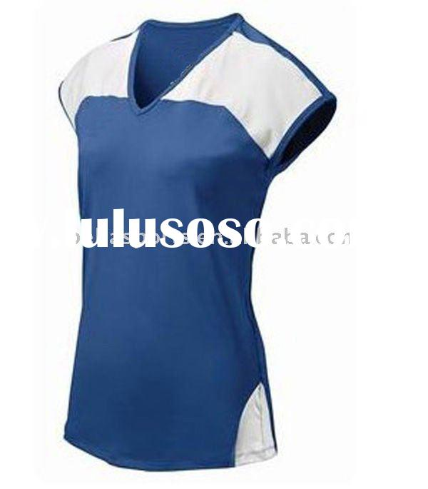 v neck polyester sports jersey 2011 new volleyball jersey