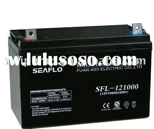 12v100ah valve regulated battery, lead acid battery,rechargeable battery