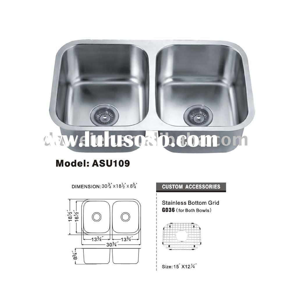 2011 HOT PRODUCTS!!! ASU109-3 double bowl kitchen sink stainless steel