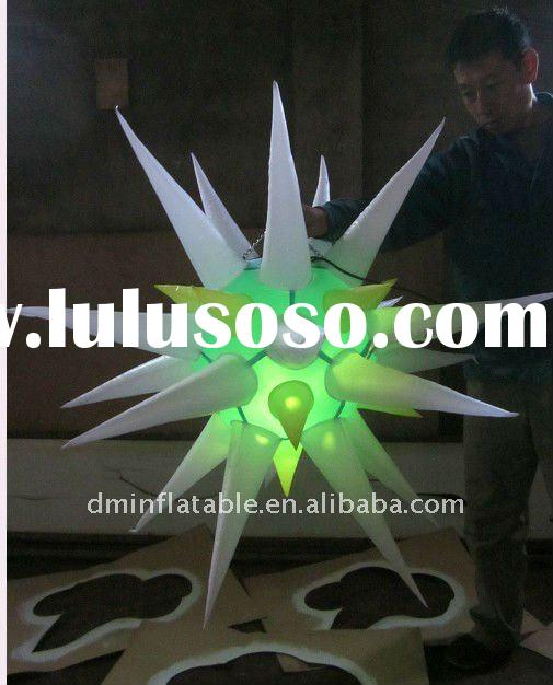 2011 christmas decoration inflatable star with LED light