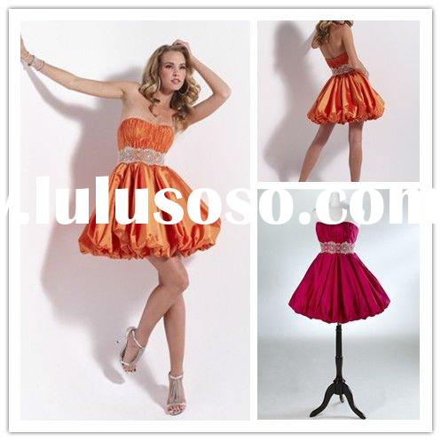 Graduation Dress on 2011 Cute Strapless Beaded Girls Graduation Dress Fp049