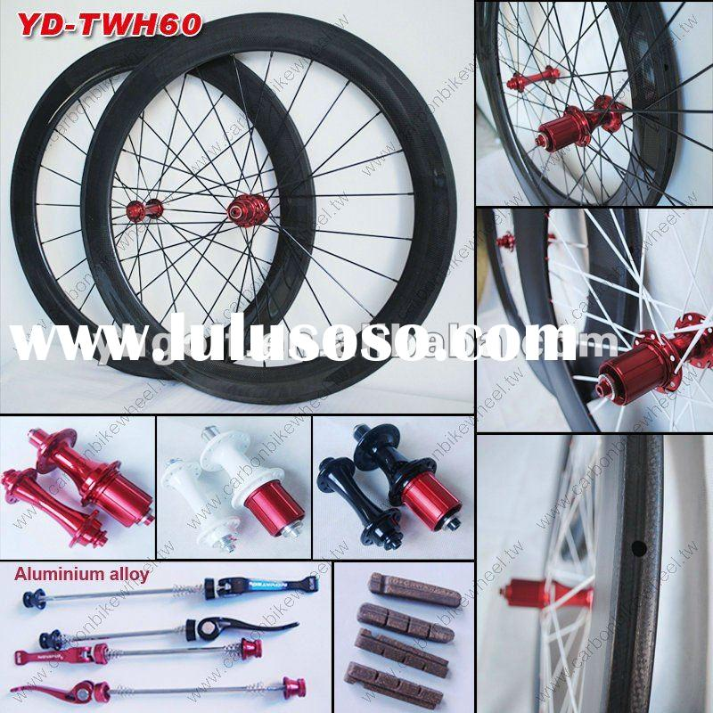 2012 new design full carbon fiber tubular bicycle wheel set
