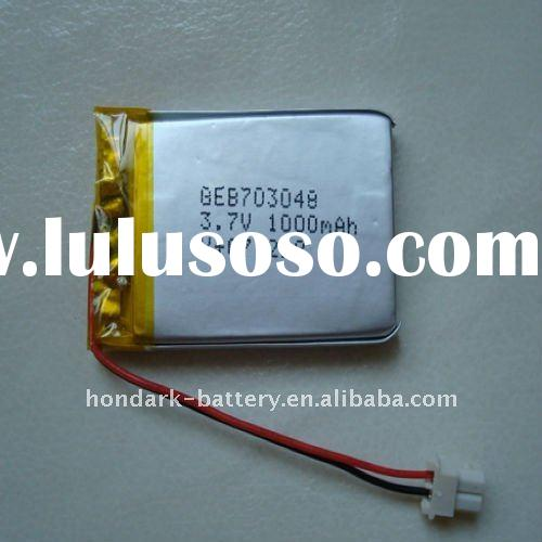 3.7V Lithium Polymer Rechargeable Battery 1000mAh