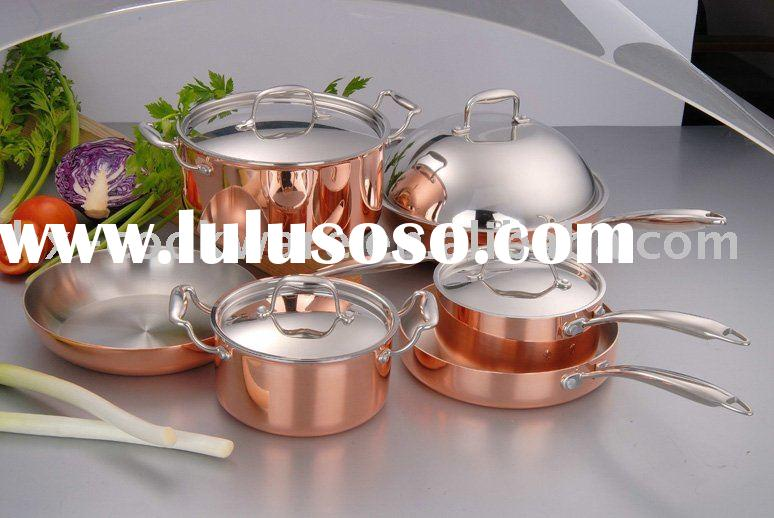 3-ply Copper Cookware Set