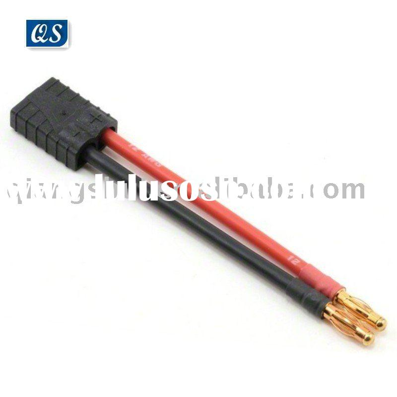 4mm banana plug to Female Traxxas Connector charge lead