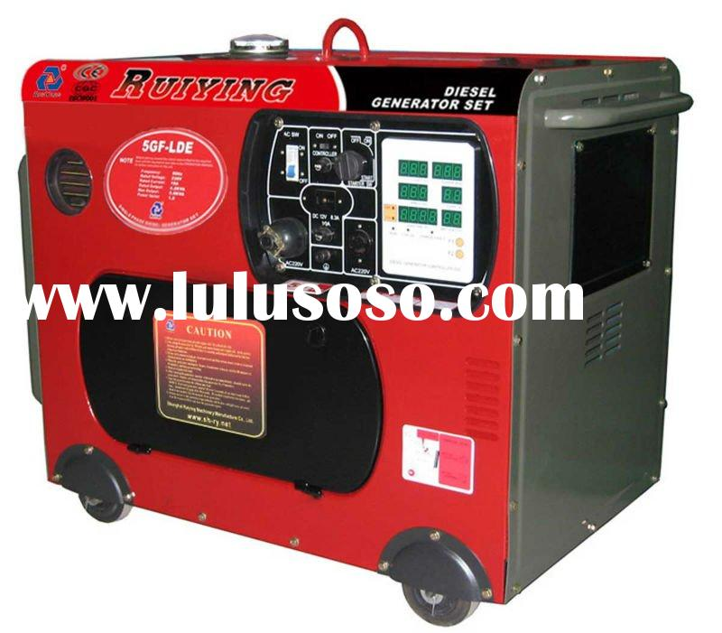 5KW Silent Type Diesel Generator Set, Air-cooled, Portable