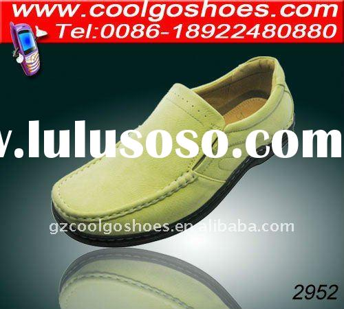Attractive yellow color soft sole italy men casual shoes made in guangzhou